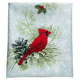 Christmas Cardinal Shower Curtain, One Size