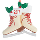 Personalized Vintage Ice Skates Ornament, One Size