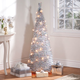 4 ft Silver Tinsel Pull Up Tree, One Size