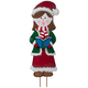 Metal Garden Girl Caroler by Maple Lane Creations™, One Size