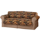 Lodge Print Microfiber Loveseat Protector, One Size