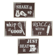 Kitchen Metal Wall Art Set of 4, One Size