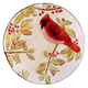 Glass Cardinal Serving Piece, One Size
