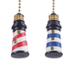 Lighthouse Fan & Light Pulls, Set of 2, One Size