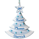 Personalized Baby Glitter Tree Ornament Plain Blue, One Size