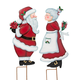 Kissing Santa & Mrs. Claus Stake by Maple Lane Creations™, One Size