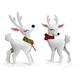 Metal Glitter Reindeer Set of 2, One Size