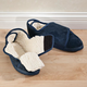 Adjustable Fleece Slippers, Small