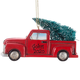 Personalized Red Truck with Tree Ornament Personalized, One Size