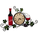 Wine Wall Clock, One Size