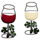 Wine Glass Wall Hanging Set of 2, One Size