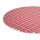 Winter Plaid Elasticized Vinyl Table Cover, One Size