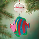 Personalized Tropical Fish Ornament