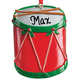 Personalized Christmas Drum Ornament, One Size