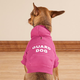 Personalized Pink Puppy Hooded Sweatshirt, One Size