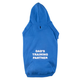 Personalized Blue Puppy Hooded Sweatshirt Plain XL, One Size