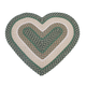 Wool Heart Shaped Accent Rug, One Size