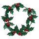 Holly and Berries Metal Wreath by Maple Lane Creations, One Size