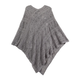 Comfort Weave Knit Poncho, One Size
