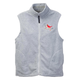 Embroidered Polar Fleece Vest, One Size