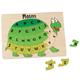 Personalized Turtle Alphabet Puzzle, One Size