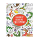 Grown Up Coloring Christmas Book, One Size
