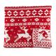 Reversible Deer Knit Throw 50