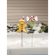 Gingerbread Candy Stakes, Set of 2 by Maple Lane Creations, One Size