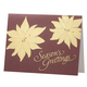 Gold Poinsettia Non Photo Personalized Card Set of 18, One Size