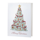Christmas Trimmings Non Photo Personalized Card Set of 18, One Size
