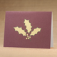 Holly Leaf Non Photo Personalized Card Set of 18, One Size