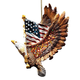 Patriotic Eagle Ornament, One Size