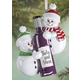 Personalized Snowmen with Wine Ornament, One Size