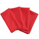 Red Fabric Napkins Set of 4, One Size