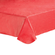 Solid Red Vinyl Table Cover, One Size