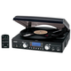 Jensen 3 Speed Turntable with AM/FM Radio & MP3 Encoding, One Size