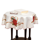 Poinsettia Embroidered Table Cloth, One Size