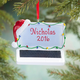 Personalized Santa Laptop Ornament, One Size