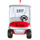 Personalized Golf Cart Ornament, One Size