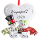 Personalized Engaged Snowmen Ornament, One Size