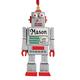 Personalized Robot Ornament Plain, One Size