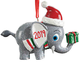 Personalized Christmas Elephant Ornament Personalized, One Size