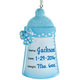Personalized Baby Bottle Ornament, One Size