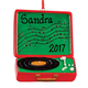 Personalized Record Player Ornament, One Size
