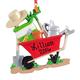 Personalized Wheelbarrow Ornament Personalized, One Size