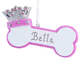 Personalized Princess Dog Bone Ornament, One Size