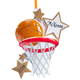 Personalized Basketball Star Ornament Plain, One Size