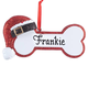 Personalized Santa Dog Bone Ornament, One Size