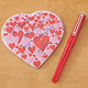 Heart Shaped Notepad with Pen