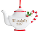 Personalized Christmas Teapot Ornament, One Size